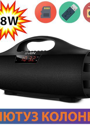 Bluetooth колонка Sven PS-460 Black, блютуз колонка для телефона