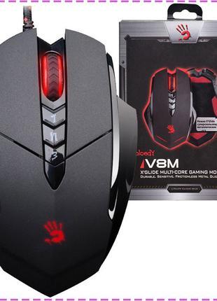 Игровая мышка A4Tech Bloody V8M Black, USB, с подсветкой гейме...