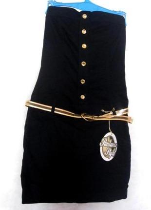 Красивое джинсовое платье с поясом