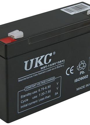 Акумуляторна батарея 6V 10Ah UKC (150х50х100)