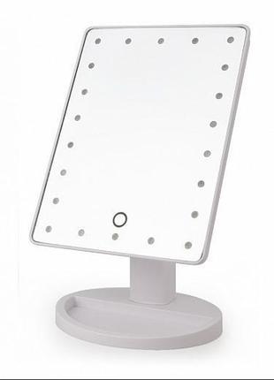 Одинарное зеркало для макияжа с led подсветкой