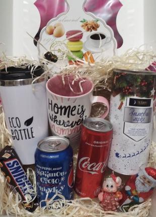 Подарочный набор с термокружкой/новогодний подарок/праздничный бо