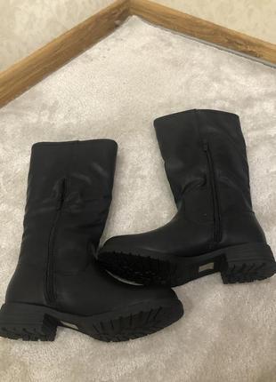 Сапоги женские зимние на удобном каблуке
