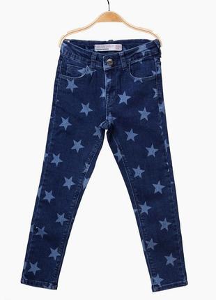 Стильные джинсы breeze в звёзды для девочки 116 рост