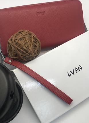 Красный женский кошелек lvan