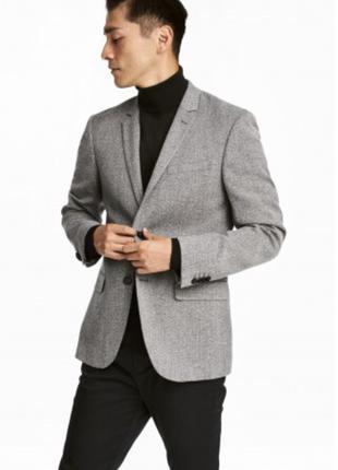 Пиджак h&m premium quality , slim fit !