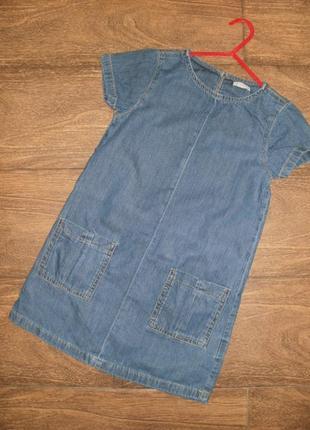 Стильное джинсовое платье на 6 лет