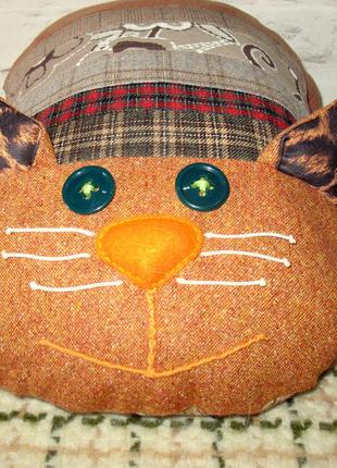 Подарок. Кот - подушка. Интерьерная игрушка