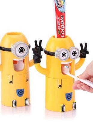 Детский держатель дозатор для зубной пасты, Миньон