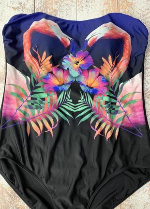 Купальник с фламинго