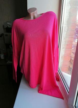 Легкий свитер\асимметричная кофта с разрезом летучая мышь phas...