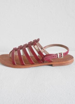 Кожаные босоножки сандалии на плоской подошве les tropeziennes