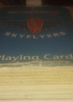 Маленькие игральные карты skyflyers (British Airways)