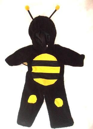 Теплый костюм комбинезон человечек пчелка на 3-12 месяцев