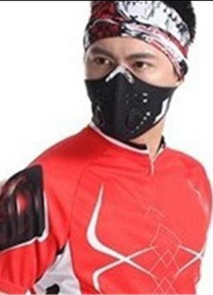 Распиратор вело маска с клапаном фильтром