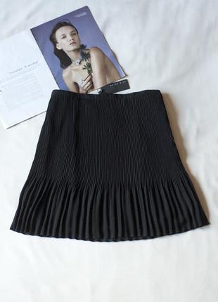 Черная плиссированная юбка мини gate woman, размер м