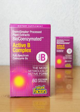 Natural Factors, BioCoenzymated, Активный комплекс витаминов B
