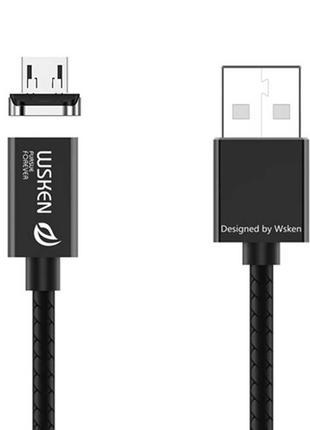 Универсальный магнитный usb кабель Wsken X1 micro usb