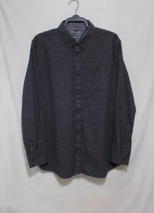 Рубашка коричневая узорная 'rocha john rocha' 52-54р