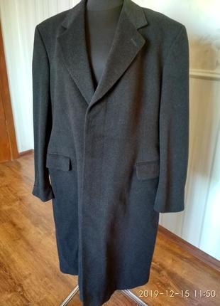Великолепное пальто  100% кашемир, большой размер 54-56, англия.