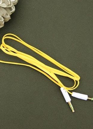 Аудио аукс кабель удлинитель 1 метр шнур aux переходник универсал