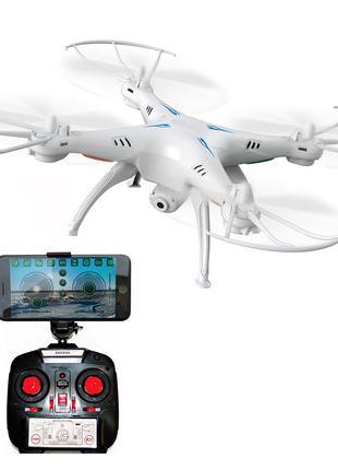 Квадрокоптер дрон One Million c WiFi камерой на пульте белого ...