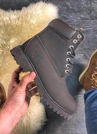💎зимние ботинки 💎timberland chocolate fur, тимберленд с мехом ...