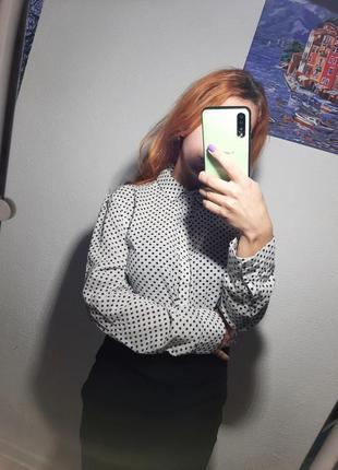 Укороченная рубашка топ