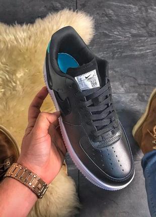 Nike air force 1 low lunar🌷женские чёрные кроссовки найк форс,...