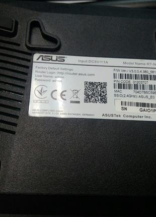 Сетевое оборудование Wi-Fi и Bluetooth Б/У Asus RT-N12E