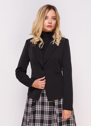 Брендовый черный пиджак жакет блейзер с карманами переливается