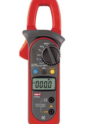 Токоизмерительные клещи UT204А с функцией мультиметра и термоп...