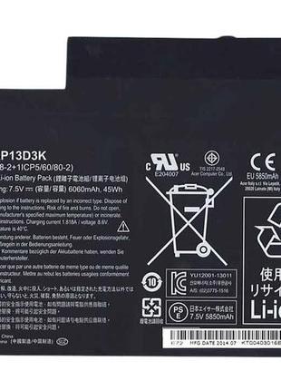Аккумуляторная батарея для ноутбука Acer Acer AP13D3K Aspire S...