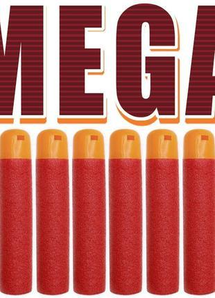10шт. Nerf MEGA стрелы патроны пули Нерф МЕГА пульки для бласт...
