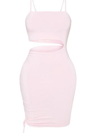 Ликвидация товара 🔥   розовое мини платье имитация топ юбка