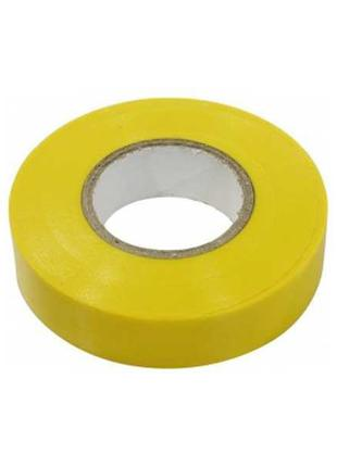 Лента изоляционная ПВХ 20мм желтая