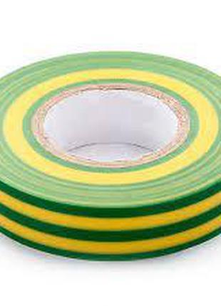 Лента изоляционная ПВХ 20мм желто-зеленая