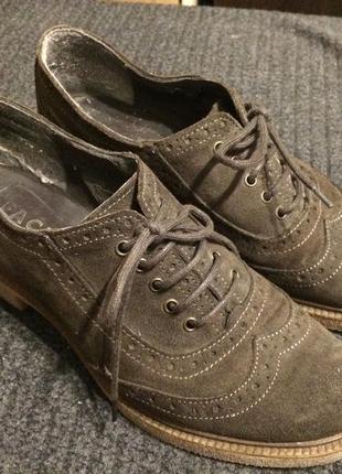 Face ботинки туфли броги оксфорды замшевые