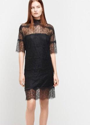 Moss copenhagen шикарное платье ажурное, кружевное