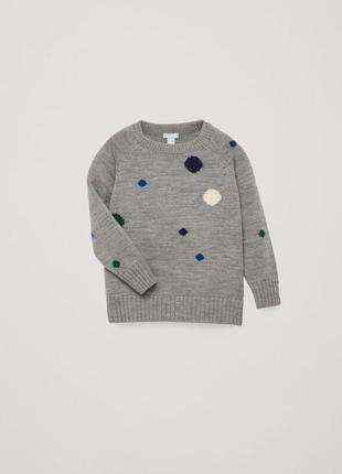 Шерстяной свитер cos 2-4 года