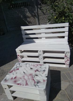 Комплект мебели из евро поддонов в стиле лофт.