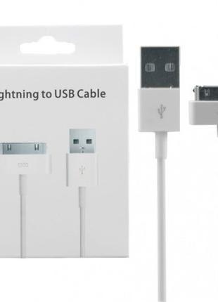 Кабель USB iPhone 4 4S 3G iPod Touch iPad Шнур 1м
