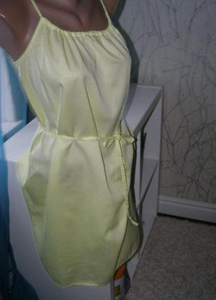 Хлопковое 100% натуральное платье от h&m l-xxl-размер