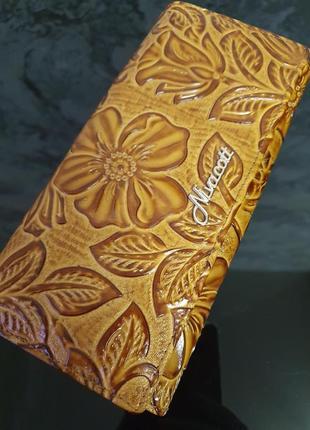 Стильный, кожаный  женский кошелёк- клатч- портмоне  nivacott !