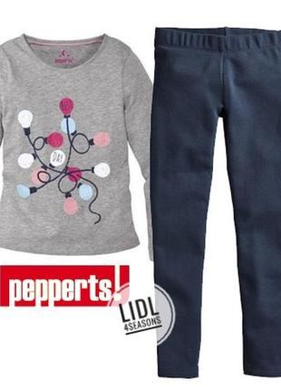 Теплая пижама для девочки 146-152 pepperts, германия, новогодняя