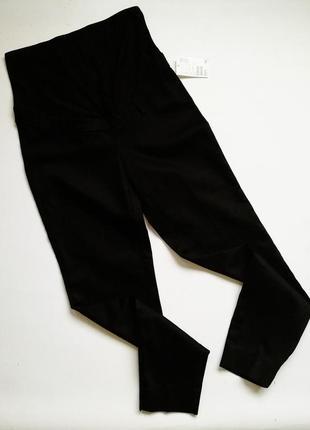 Черный штаны джегинсы для беременных животика будущей мамы