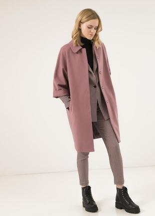 Шерстяное женское пальто season бланш розового цвета