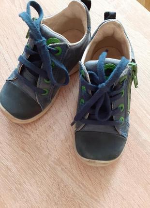 Кожанные кроссовки 22 р-ра