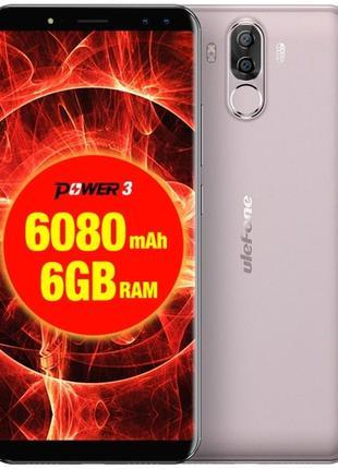 Смартфон UleFone Power 3 gold 6/64 Гб батарея 6080 mAh + старт...
