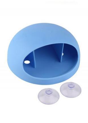 Настенный держатель для зубных щеток, голубой